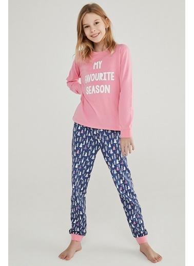 Penti Teen Snow Good 2Li Pijama Takımı Renkli